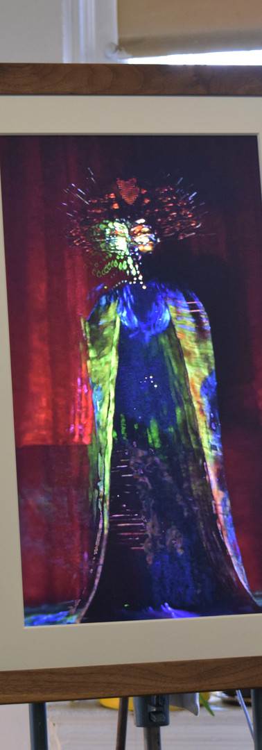 The statuesque Elizi Dantor (2018) on a digital frame, a collaborative digital portrait piece between Yelanie Rodriguez, Melanie Gonzalez and Bainbridge which showed at Miami Art Week this past December.