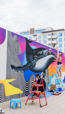 Stunning Seaside Mural comes to life at new Residential Development