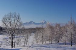 リトリートルームからの風景 冬の磐梯山