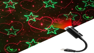 USB Star Light, 3Colors, Sound Activated Strobe with 24 Light Modes