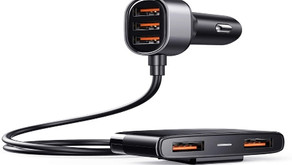 TOLLEFE Car Charger 5 Multi Ports