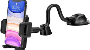 Mpow Car Phone Mount, Dashboard Windshield Car Phone Holder with Long Arm