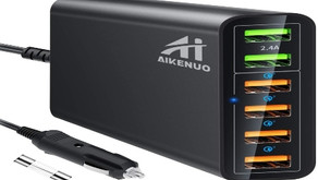 AI AIKENUO 96W Quick Charge USB Cars Charger Adapter
