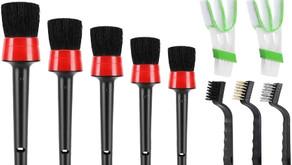 HMPLL 10pcs Auto Car Detailing Brush Set Car Interior Cleaning Kit