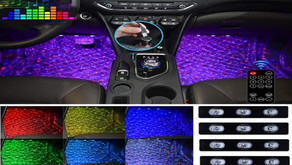 USB Plug-in Stars Atmosphere Light for Car Carpet RGB Multicolor LED Accent Kit (4 Items, DC 5V)
