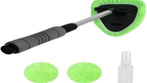 XINDELL Microfiber Car Window Cleaning Tool with Extendable Handle