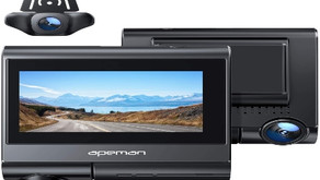 APEMAN Touch Screen Dual Dash Cam Built-in GPS, and Wi-Fi