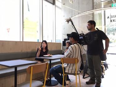 TVQ九州「ふくおかサテライト」撮影