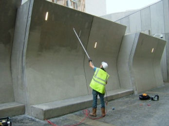 Scottish Parliament Blast Wall