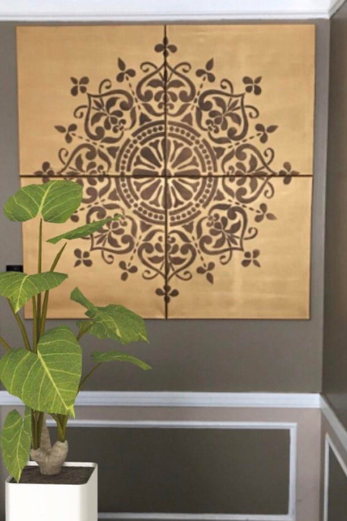 Mandala Wall Canvas Set- You Pick Any 2 Colors
