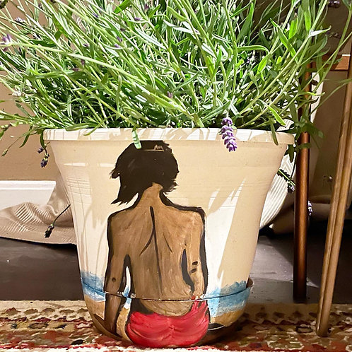 Home Oniship Art Deco Hand Painted Self-Watering Planter