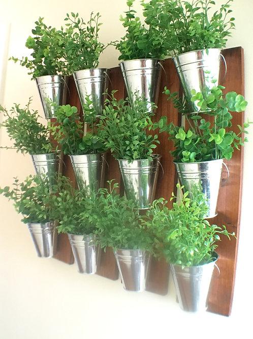 Indoor Wall Planter- Wood Grain