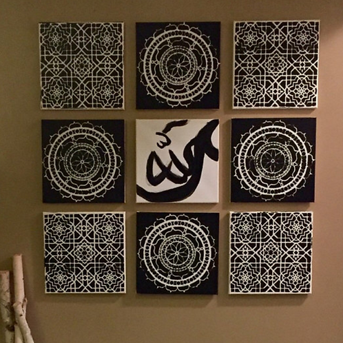 Above the Universe #God 9-piece Canvas Set