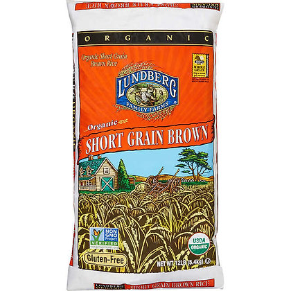 Organic Brown Short Grain Rice 25lbs *US