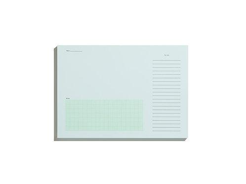 Desktop Notepad – Pale Blue