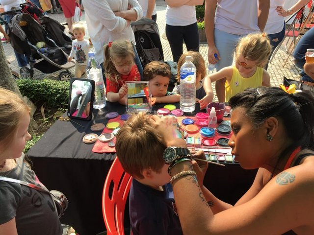 Hong Kong kids face painting