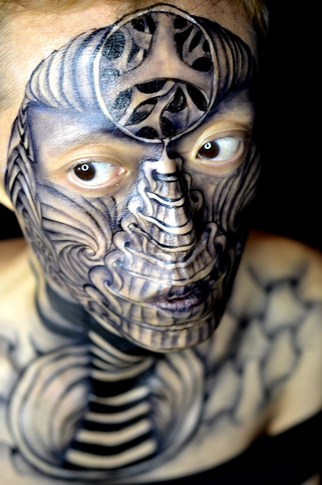 hong kong face body art