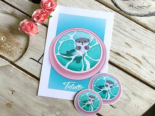 Petite baignade Print A5 / Stickers / Magnet