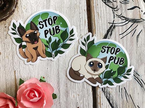 Sticker Stop Pub Chat/Chien