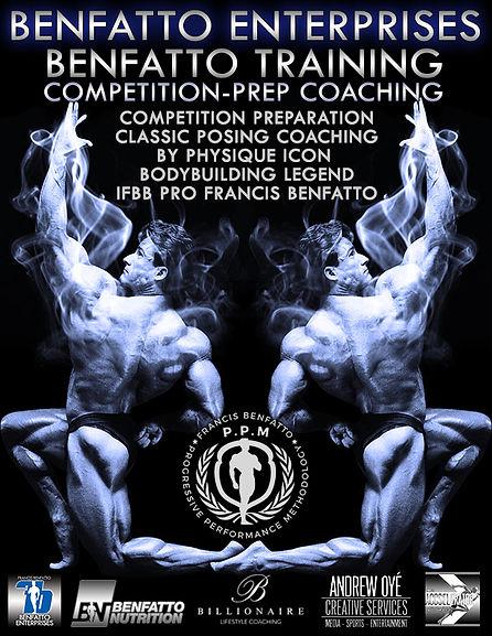 Bodybuilding Coaching, IFBB Pro Francis Benfatto, Andrew Oye, ACCSELerator, Benfatto Enterprises, Physique Icon, Posing Coaching, Fitness Training, Benfatto PPM, Bodybuilding Legend