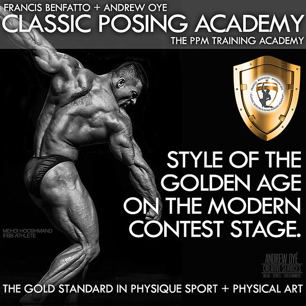 Posing Coach Andrew Oye coaches Olympia-level contenders, pro bodybuilders and amateur competitors.