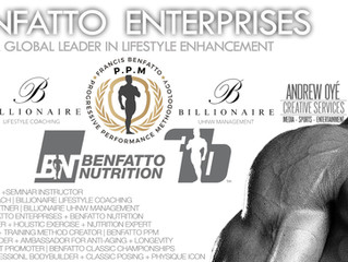 Legendary IFBB Pro Francis Benfatto's Benfatto Enterprises + Benfatto PPM Welcome Andrew Oye, Global