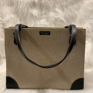 Kate Spade Canvas and Leather Accented T