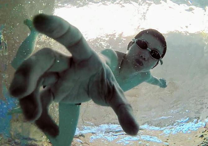 Spiderman under water