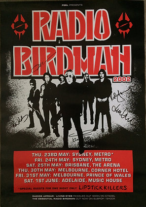 Poster A2 - RB Australia 2002 - signed