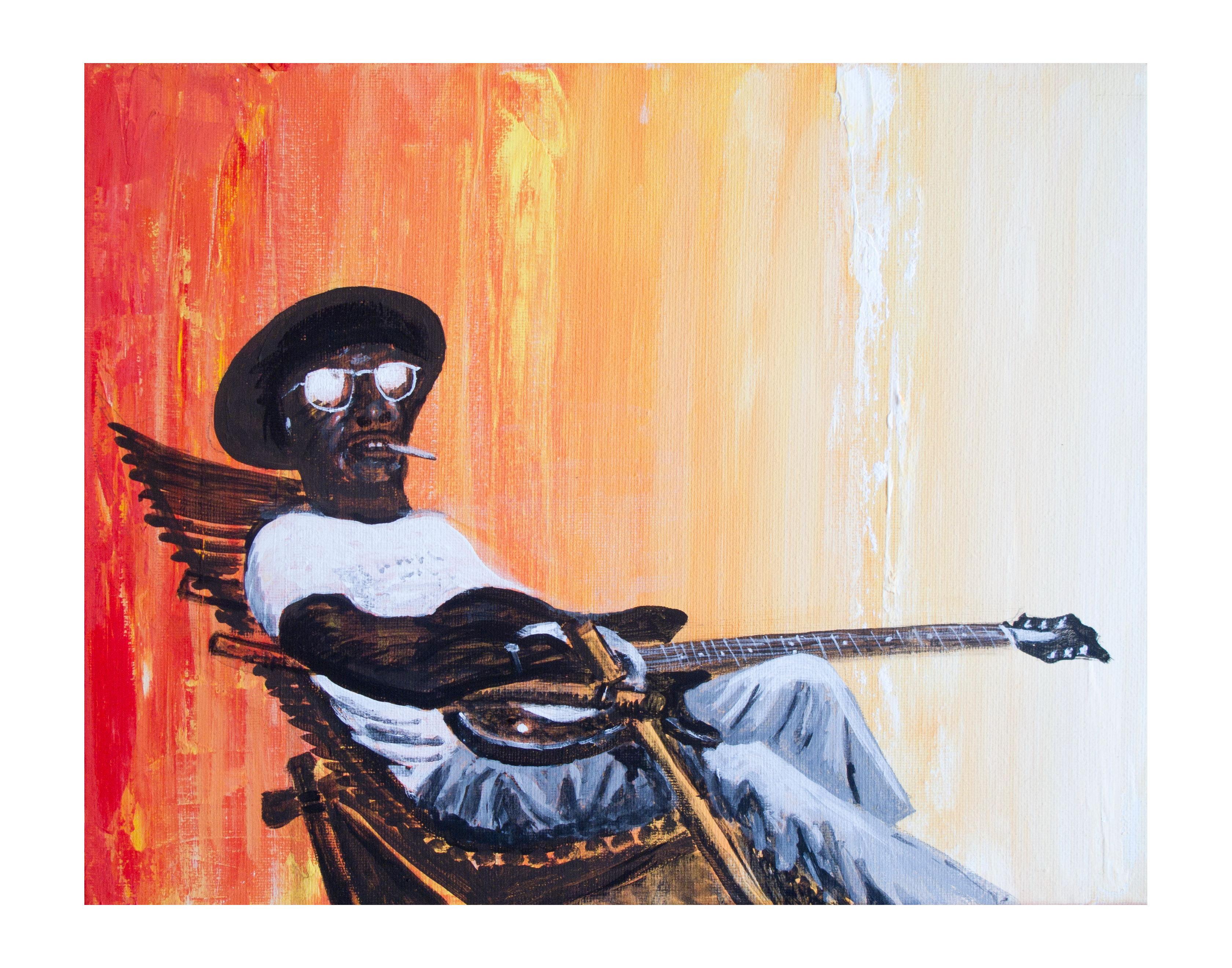 DT painting-Ali Farka Toure-11x14
