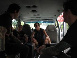 In Keith's van