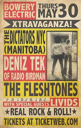 Poster A3 - Dictators/Deniz Tek/Fleshtones NYC