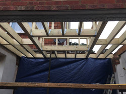 Roof build ready for skylight