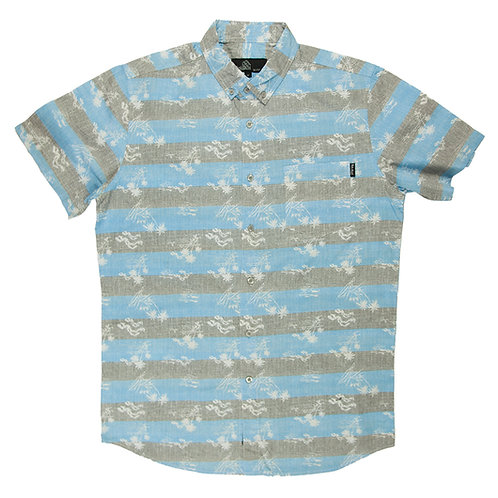 Hawaiian Blue and Grey Striped