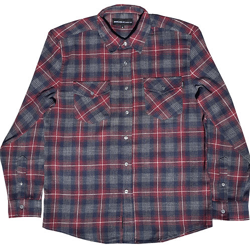 Burgundy and Charcoal Grey Flannel