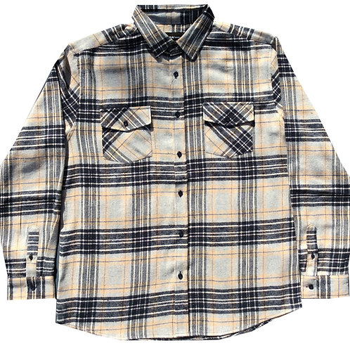 Cream Plaid Flannel