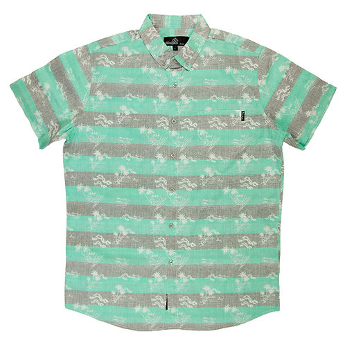 Hawaiian Teal and Grey Striped