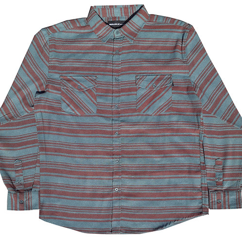 Teal and Burgundy Flannel