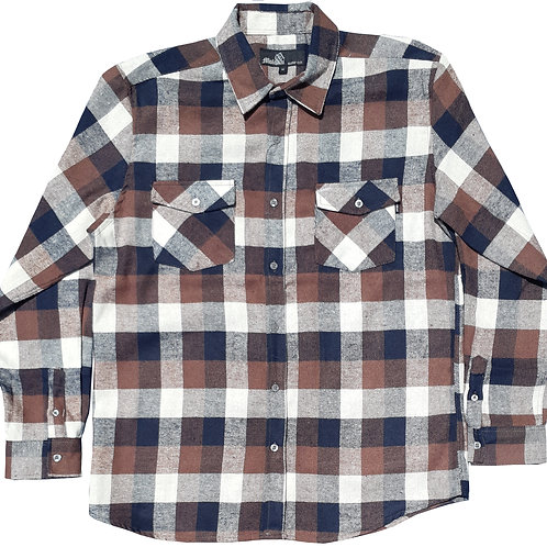 Brown and White Flannel