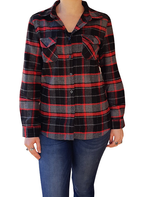 Dream Catcher Flannel Black and Red