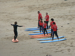 Brief history of surfing in Biarritz, France