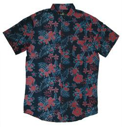 Blue red floral 1