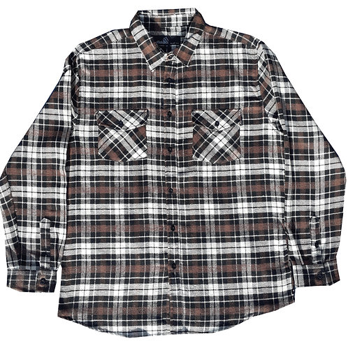 Brown and Black Plaid Flannel