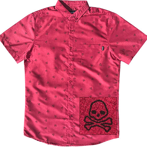 Cherry Red Skull and Bones