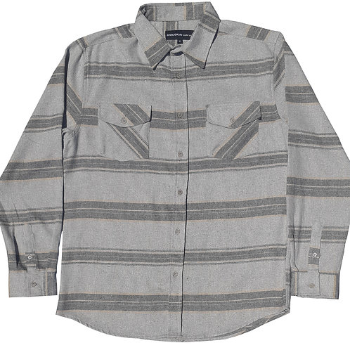 Grey Striped Flannel
