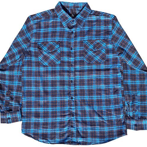 Neon Blue Flannel