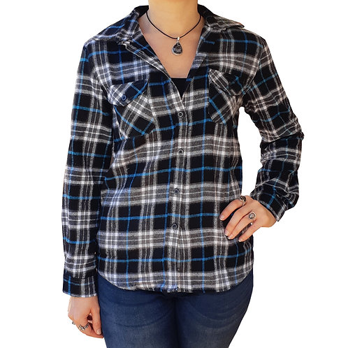 Dream Catcher Flannel Black and Blue
