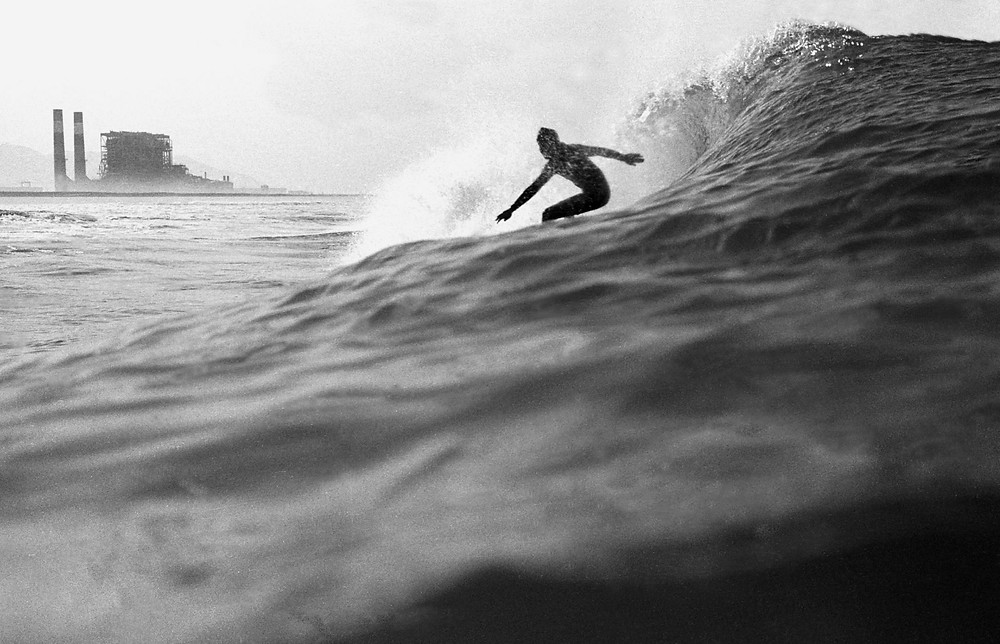 Surfer in Oxnard in the 1970s