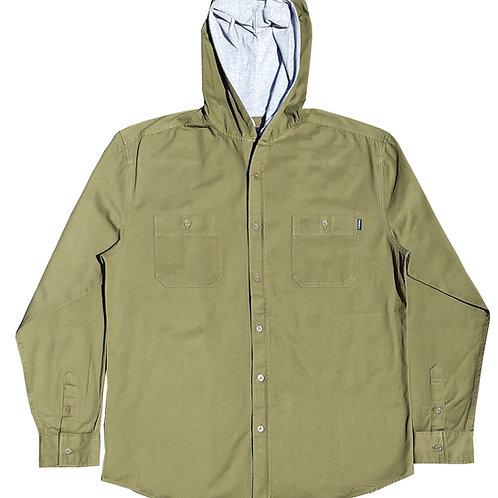 Olive Green Hooded Jacket