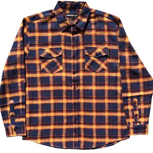Orange and Navy Flannel